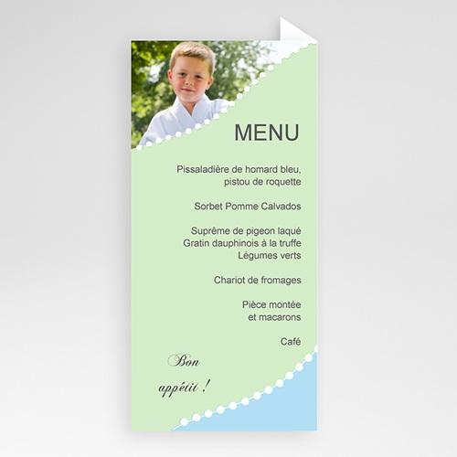 Menu de Communion - Consécration - bleu vert 6448 thumb