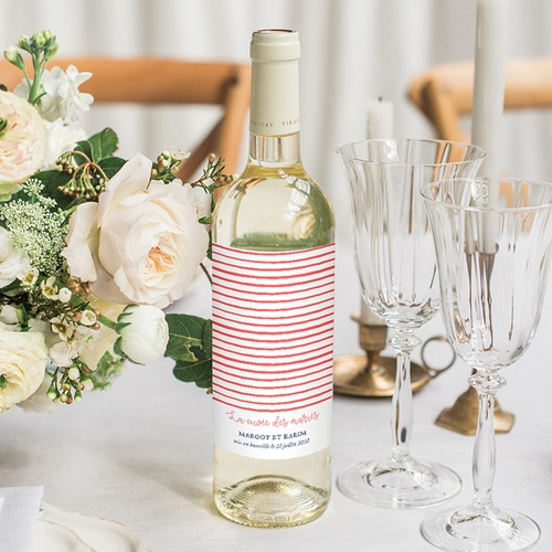 Etiquette Bouteille Mariage So french