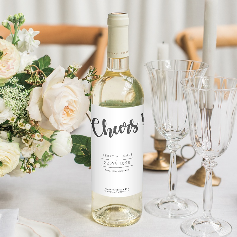 Étiquette bouteille mariage - Minimal Chic 64530 thumb