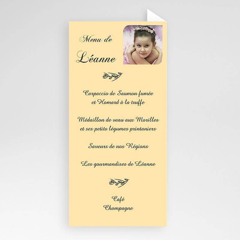Menu de Communion - Célébration de Léanne 6456 thumb