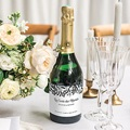 Etiquette Bouteille Mariage Anémones gratuit