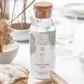 Etiquette Bouteille Mariage Boho Olive gratuit