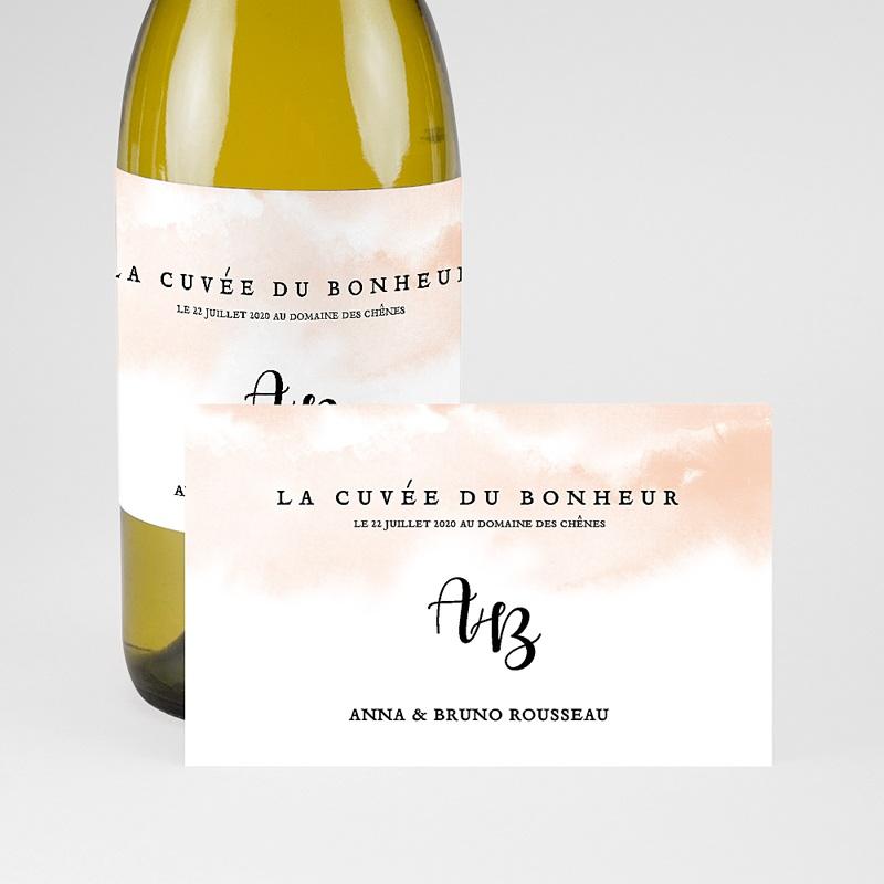 Etiquette Bouteille Champagne Aquarello pas cher