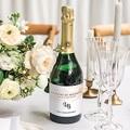 Etiquette Bouteille Champagne Aquarello gratuit