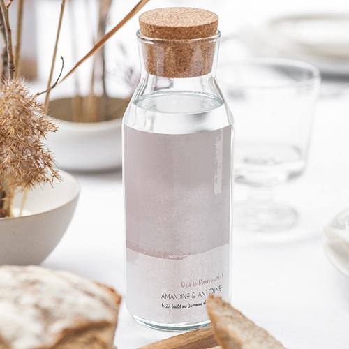 Etiquette Bouteille Mariage Rose quartz gratuit