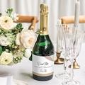 Etiquette bouteille mariage Bois & Pastel gratuit