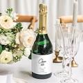 Etiquette Bouteille Mariage Vert & Doré gratuit