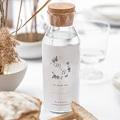 Etiquette bouteille mariage Bleu botanique gratuit