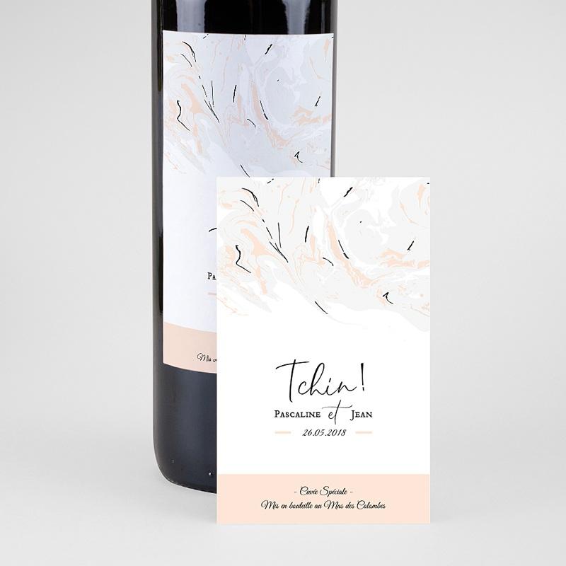 Etiquette bouteille mariage Marbre Forever pas cher