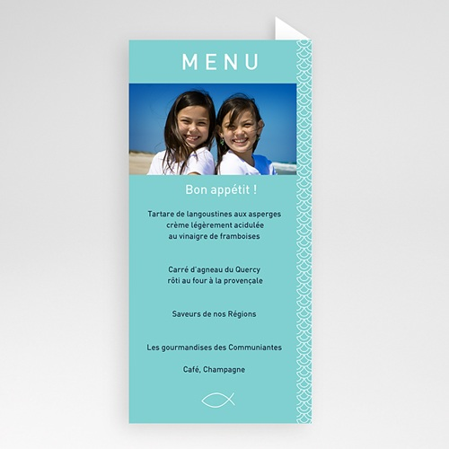 Menu de Communion - Adeline et Sarah 6468 preview