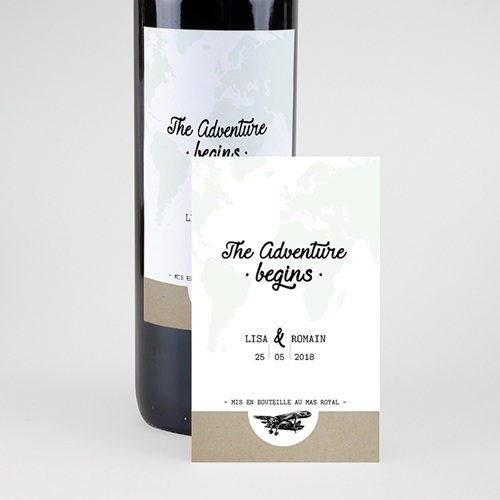 Etiquette Bouteille Mariage Time To Love pas cher