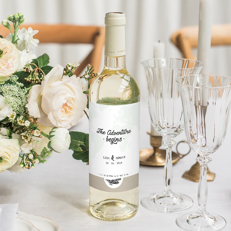 Etiquette Bouteille Mariage Time To Love