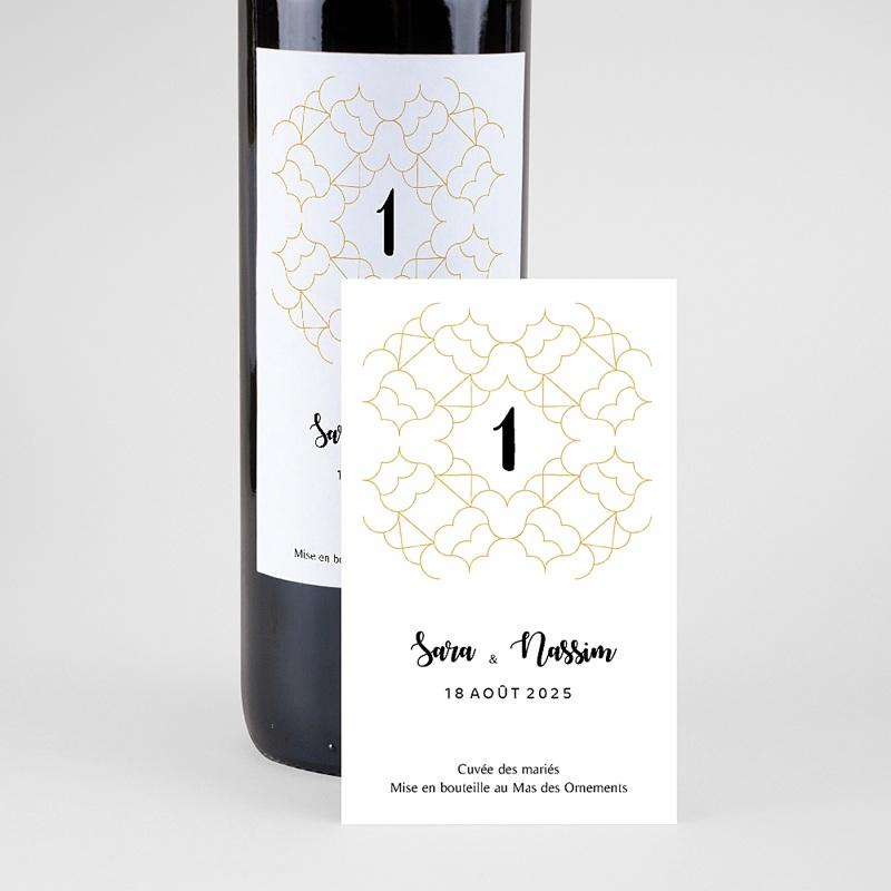 Étiquette bouteille mariage - Alhambra 64712 thumb