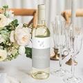 Etiquette bouteille mariage Rameaux Aquarelle