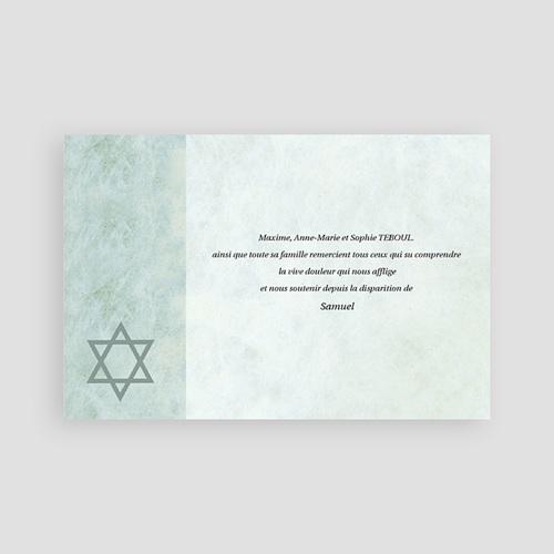 Remerciements Décès Juif - Hatikvah - memento, confession juive 64784 thumb