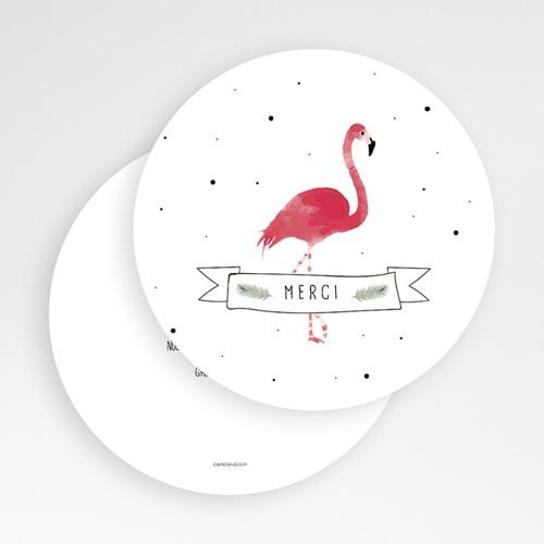 Carte remerciement naissance animaux Flamant-rose tropical gratuit