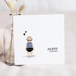 Faire-part naissance fille Petit Baigneur Bleu