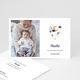 Faire-Part Naissance Mobile bleu