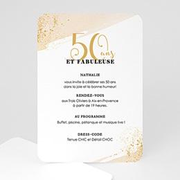 Invitations Anniversaire adulte Fabuleuse 50
