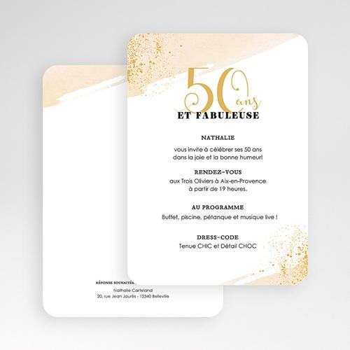 Carte Invitation Anniversaire 50 Ans Fabuleuse 50 Echantillon Offert Carteland