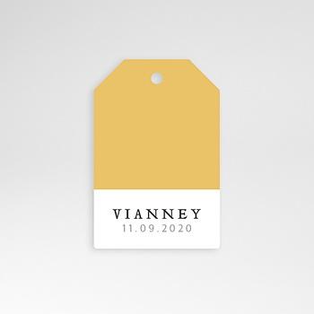 Étiquette Naissance - Bicolore Yellow - 0