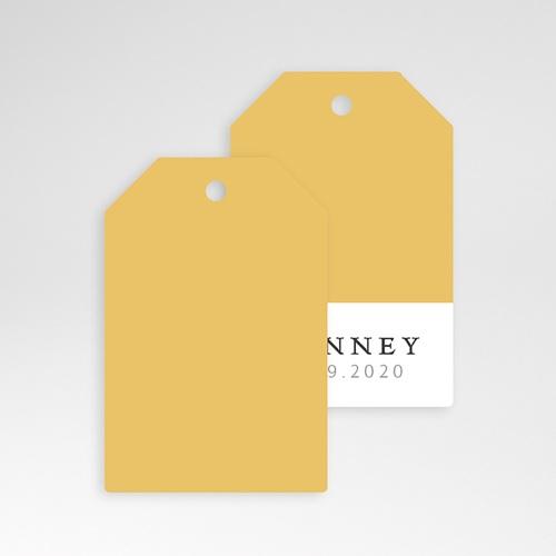Etiquette Cadeau Naissance Bicolore Yellow pas cher