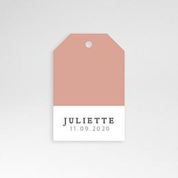 Etiquette naissance Pretty Pink