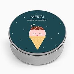 Boite métallique Merci Maitresse Happy Ice Cream