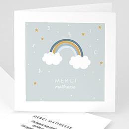 Carte remerciement instituteur Rainbow boy
