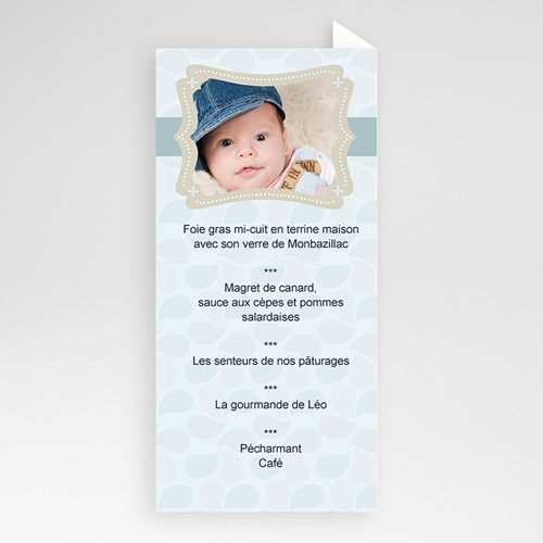 Menu de Baptême - Menu Léo 6516 preview