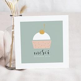 Carte remerciement instituteur Cup Cake