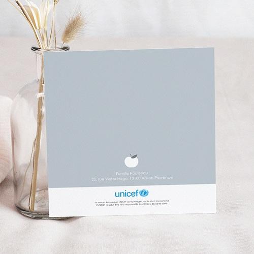 Faire-Part Naissance Fille UNICEF Pommes Roses pas cher