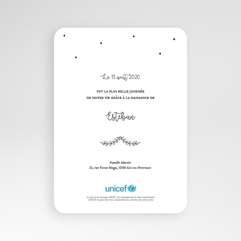 Faire-Part Naissance Garçon UNICEF Laurel pas cher