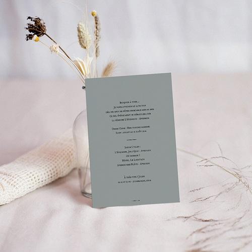 Carte invitation anniversaire 40 ans Lettres en Or pas cher