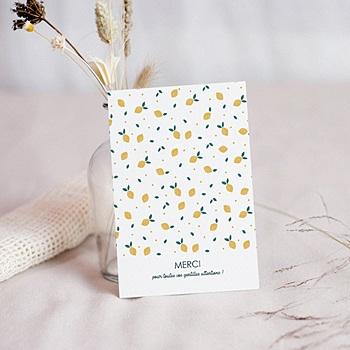 Carte remerciement naissance sans photo Lemon Tree