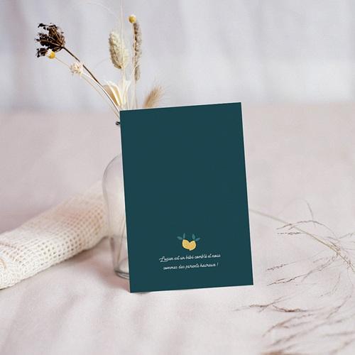 Carte remerciement naissance sans photo Lemon Tree pas cher
