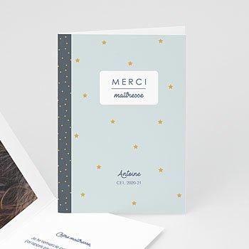 Carte de scolarisation - Cahier d'écolier Bleu - 0