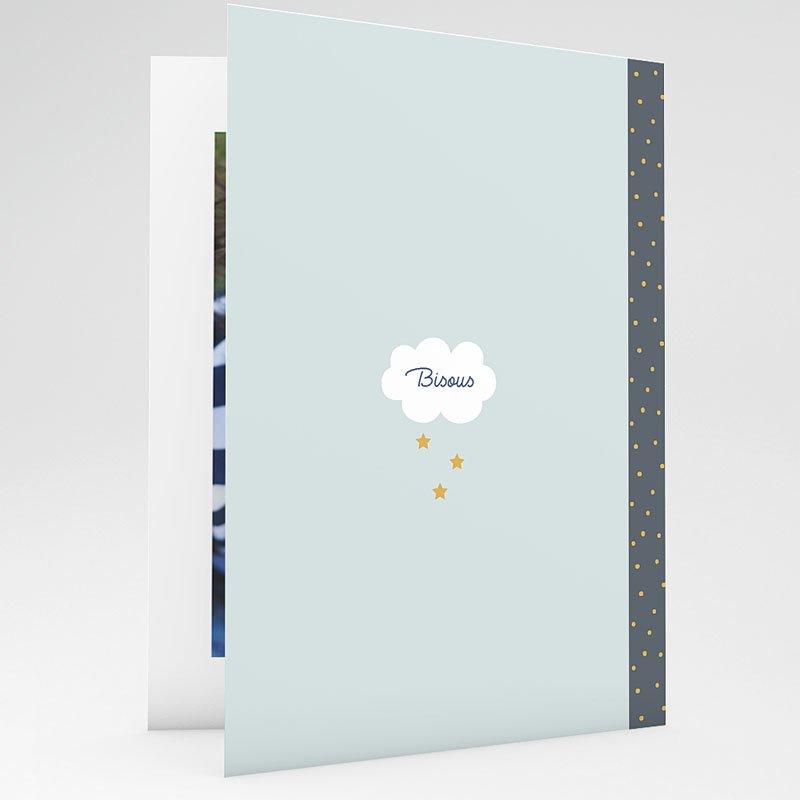 Carte remerciement instituteur Cahier d'écolier Bleu gratuit
