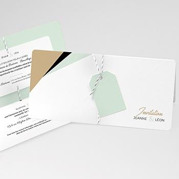 Faire Part Mariage creatif - Vert & Doré - 3