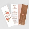 Faire-Part Mariage - Rose Chic & Bois 65436 thumb