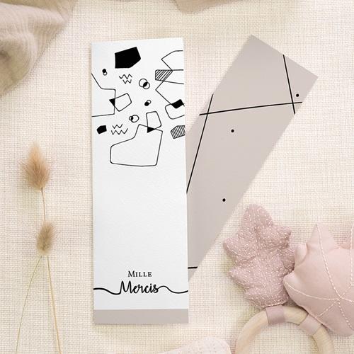 Carte Remerciement Mariage Créatif Formes Abstraites