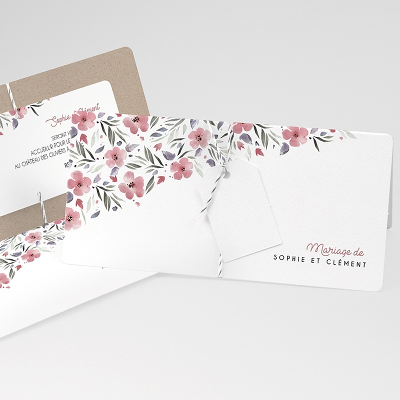Faire-part mariage Liberty Floral chic