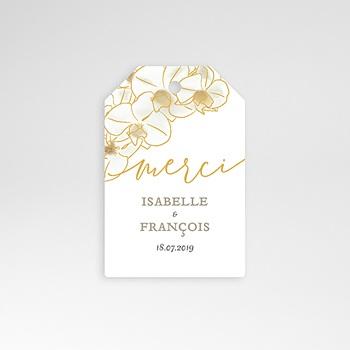 Etiquette mariage - Orchidées dorées - 0