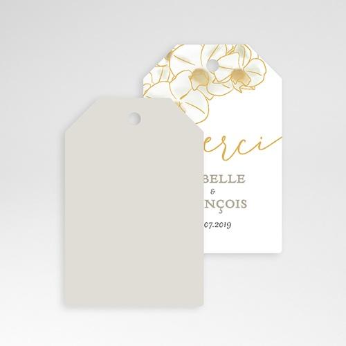 Etiquette Cadeau Mariage Orchidées dorées pas cher