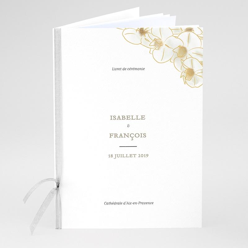 Livret Messe Mariage Orchidées dorées