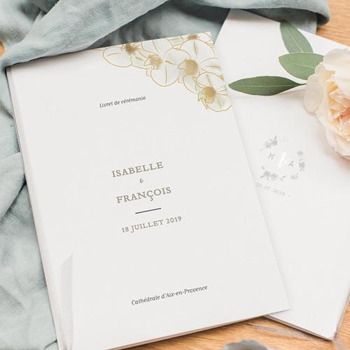 Livret Messe Mariage Orchidées dorées pas cher