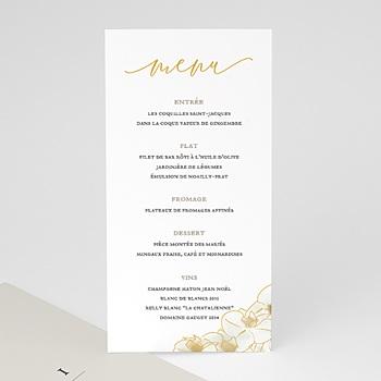 Achat menu mariage orchidées dorées