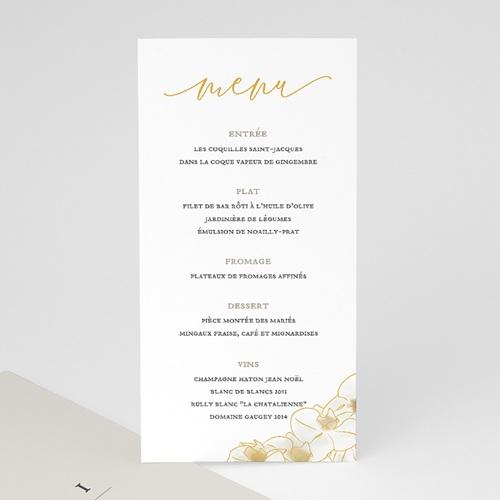 Menu Mariage Orchidées dorées