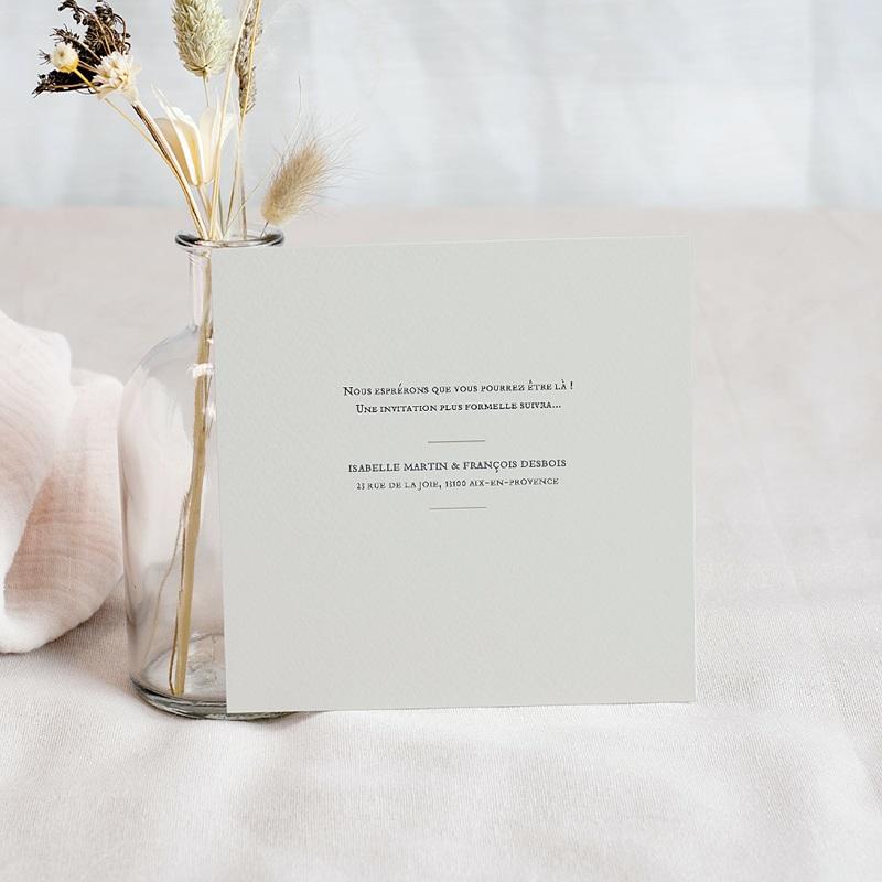 Save The Date Mariage Orchidées dorées, 10 x 10 pas cher