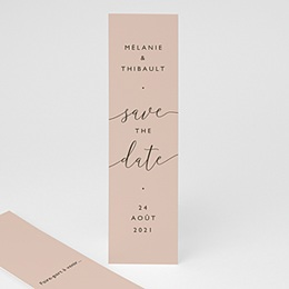 Save the date mariage Nude Chic